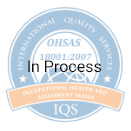 Blue oval graphic of OHSAS Certification